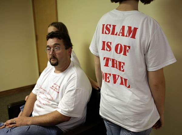 Islam is of the devil shirt