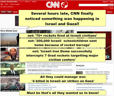 CNN covers Gaza