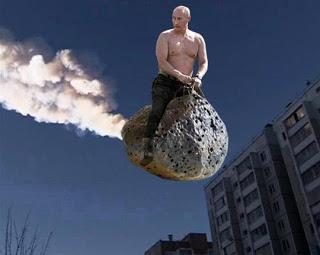 Putin on meteor