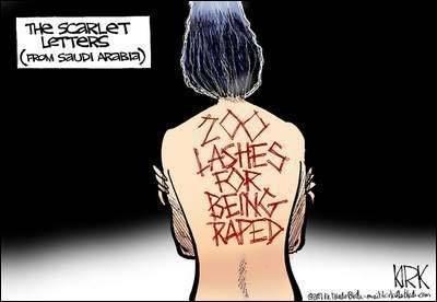 Pisk for at blive voldtaget