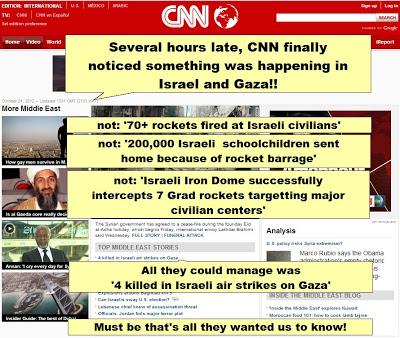CNN covers Gaza
