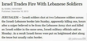 New York Times reports Lebanon sniper attack 161213