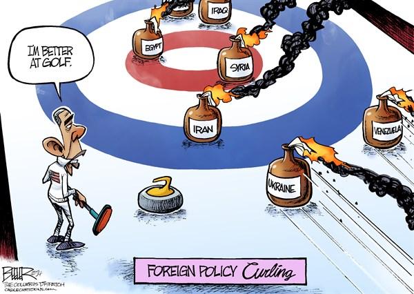 Obama curling