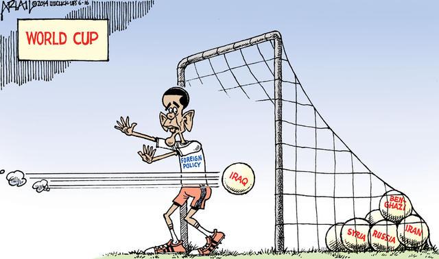 Obama som målmand