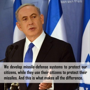 Netanyahu on the difference between us and Hamas
