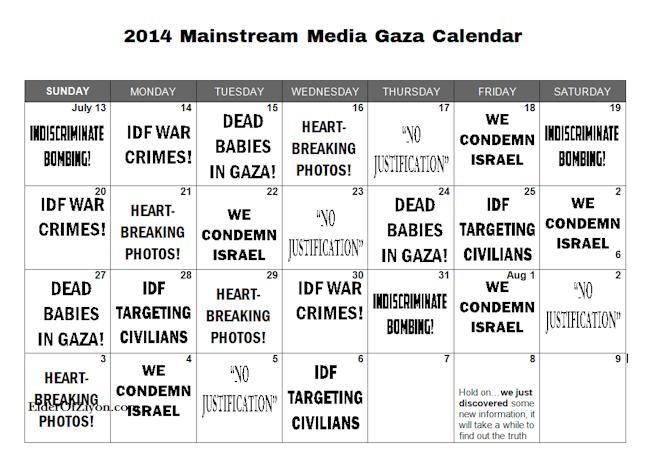 gaza calendar
