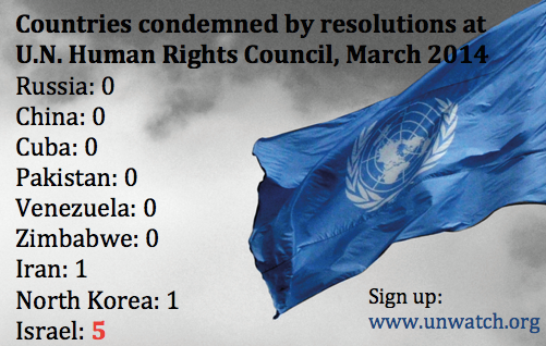 UN human rights council March 2014 votes