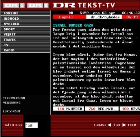 DR tekst tv 03.04.2009
