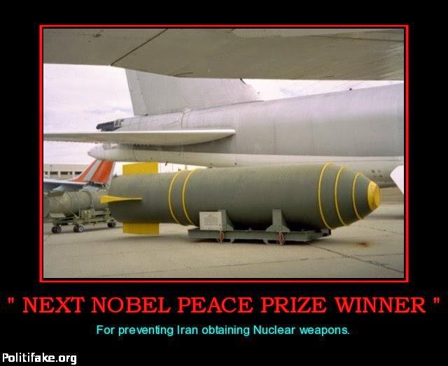 bunker buster as Nobel Prize winner