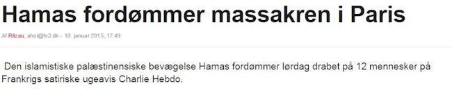 Hamas fordømmer angreb