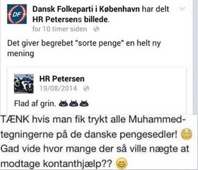 Muhammedtegninger på danske sedler