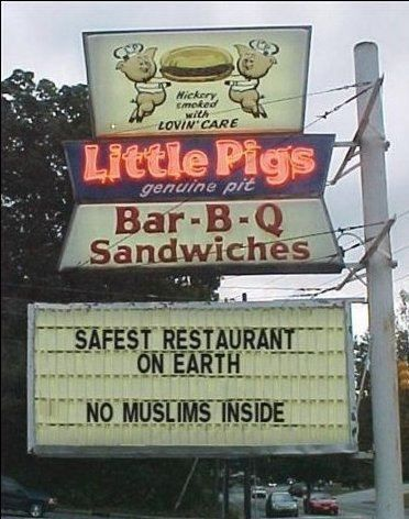 no muslims inside