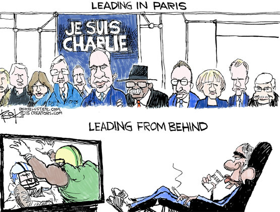 Obama ej med i paris