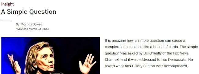 Et spørgsmål til Hillary