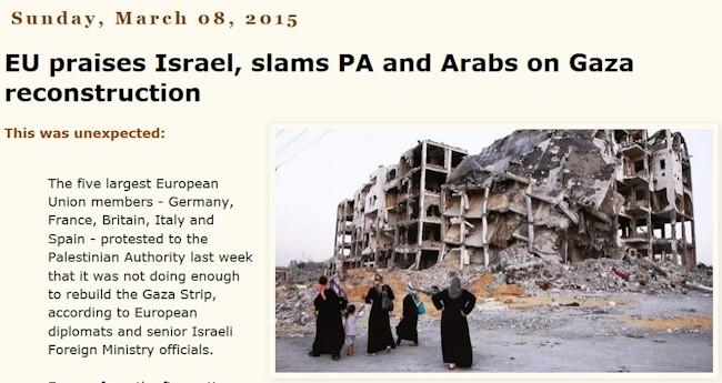 EU ros til israel