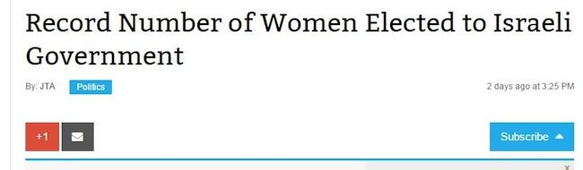 rekord mange kvinder i knesset