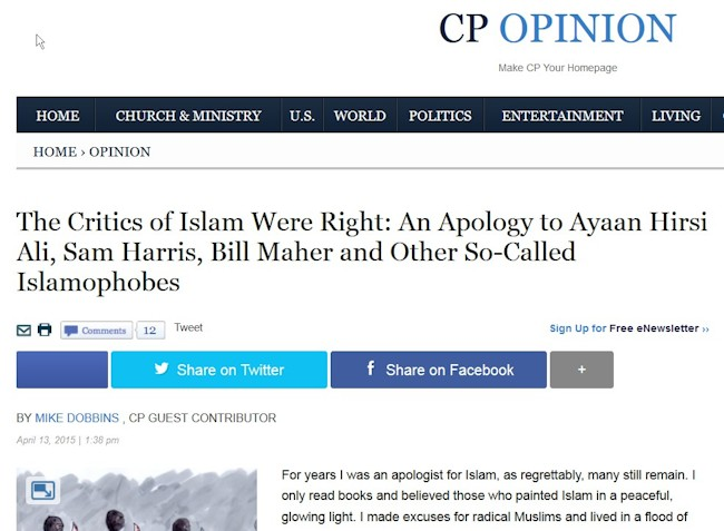 Sorry The islam critics were right