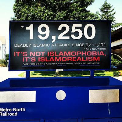 Islamist terrorism metro-north billboard