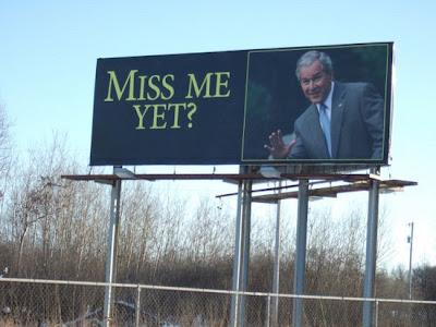 Bush billboard on I-35 in Minnesota
