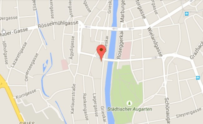 Google kort synagoge Graz