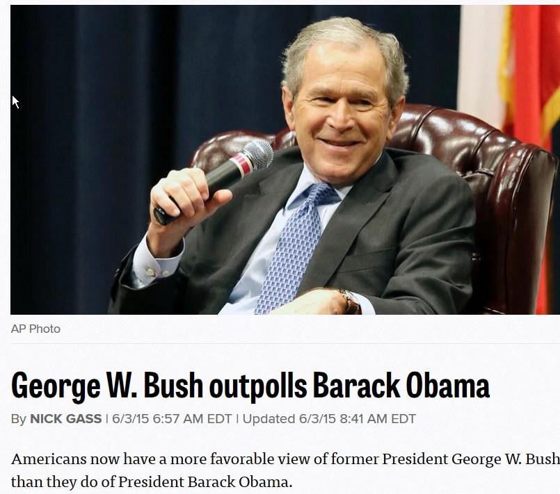 Obama mindre populær end bush