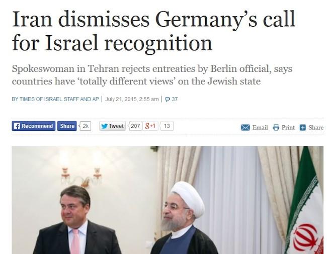 Tyskland og Iran