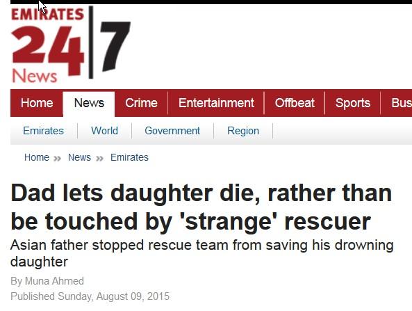 Lad datteren drukne