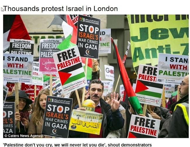 Arabere protester over jødisk selvforsvar