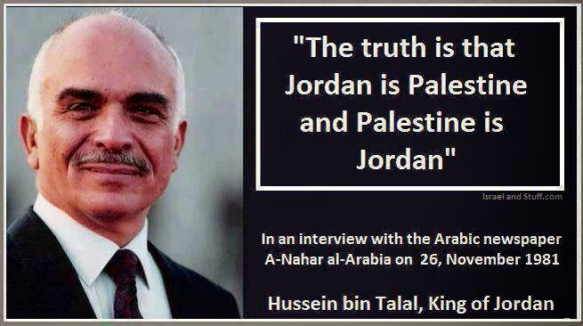 King Hussein admits that Jordan is Palestine