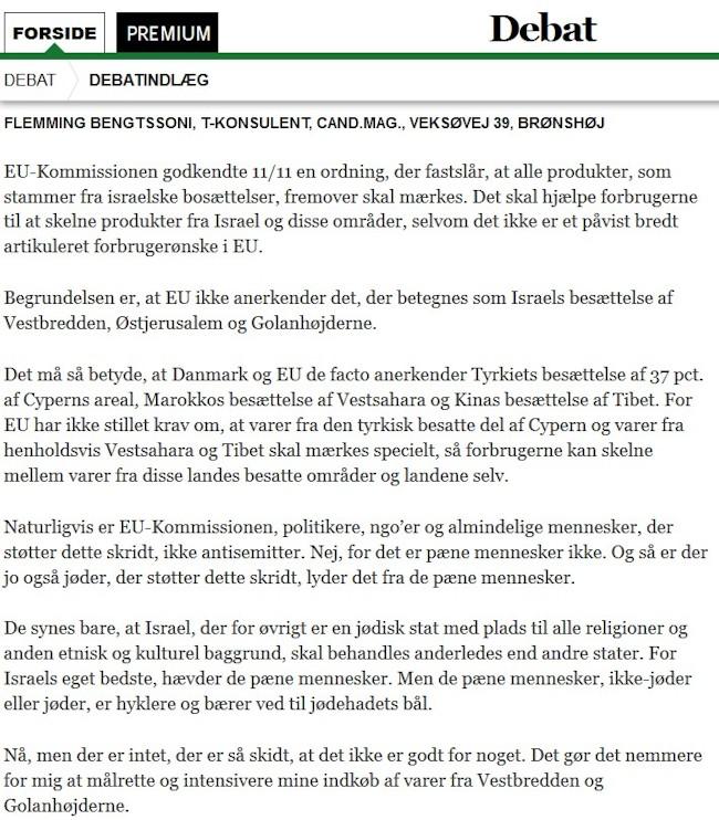 EU læserbrev