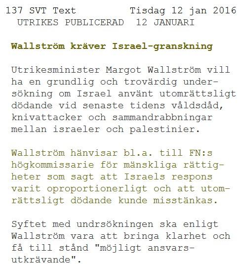 Svensk antisemitisme Wallström