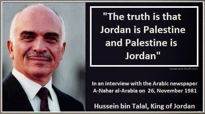 King Hussein admits that Jordan is Palestine