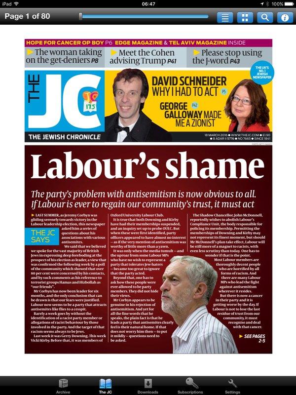 Labour shame