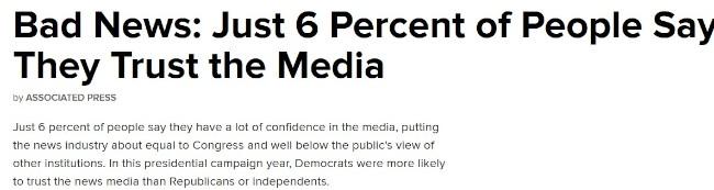 6 pct stoler på journalister