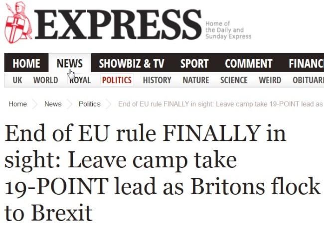 Brexit plus 19 pct