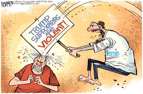 Violent supporter