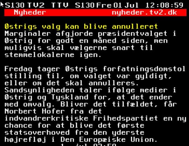 TV2 afskrift